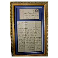 1944 Letter including the original envelope from Alexander Calder (1898 – 1976) American