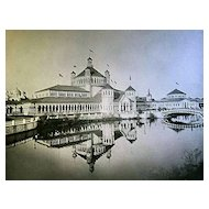 1893 World's Columbian Exposition The Fisheries Building by W.H. Jackson