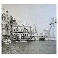 1893 World's Columbian Exposition The Caravels From The Bridge by W.H. Jackson
