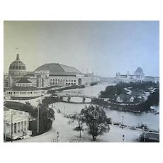 1893 World's Columbian Exposition View South East From The Illinois Building By W.H. Jackson