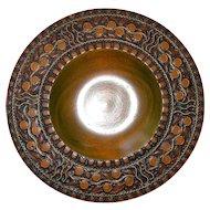 Turned Wood Brass Inlay Bowl