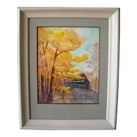 Impressionist Landscape Watercolor signed George Weisenburg