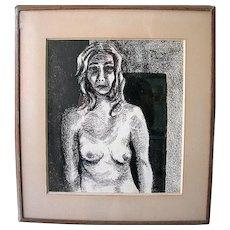 Black & White Nude Torso Silk Screen signed Dutton