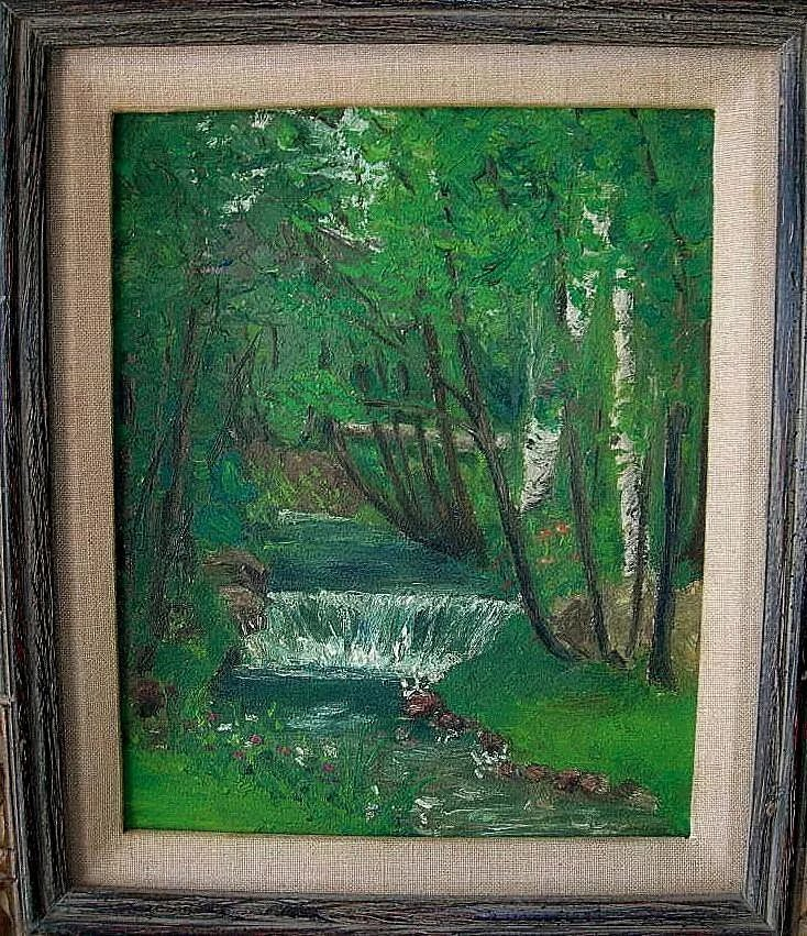 Antique American Impressionism Landscape Oil on Academy Board : My ...
