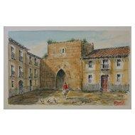 Townscape Block Print by Heinz Gunter Pastor