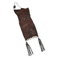 Roaring 20's Silk Crochet & Steel Bead Flapper Bag