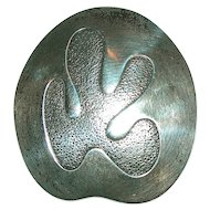 Vintage Beau Sterling Modernist Free Form Brooch