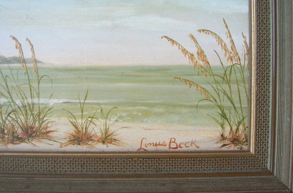 Seascape Oil On Board Signed Linus Beck My Favorite