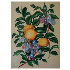 19th Century Still Life Botanicals by Listed Artist Charles Adams