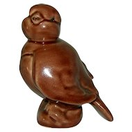Signed Kay Finch Chocolate Brown Baby Bird Figurine