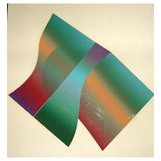 Contemporary Petifin V 2.5 Relief Plate Lithograph by Juergen Strunck American born Germany 1943
