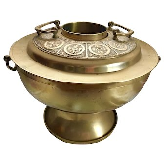 Vintage Korean Brass Rice Steamer