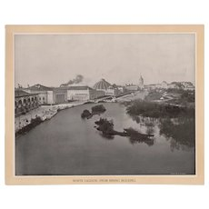 Original Print from The White City at the World's Columbian Exhibition of 1893