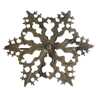 Arts and Crafts Era Silver Snowflake Brooch