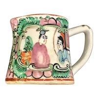 Circa 1920 Chinese Export Rose Medallion Porcelain Cream Pitcher