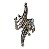 Circa 1930s Mexican Sterling Silver 925 Pre-eagle Clamper Bracelet
