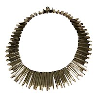 Modernist circa 1940s Bernice Goodspeed Pre-eagle Sterling 925 Link Necklace