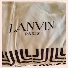 Vintage circa 1980s Lanvin Paris Silk Scarf