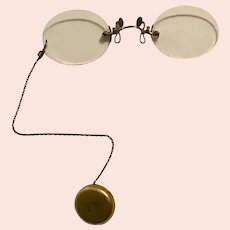 Victorian Hallmarked Gold-filled Pince-Nez Spectacles