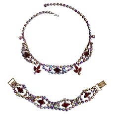 Vintage D&E Juliana Necklace and Bracelet Demi Parure