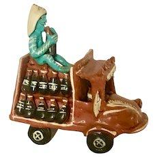 Vintage Mexican Folk Art Coca Cola Delivery Truck