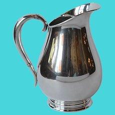 Vintage Royal Danish Sterling Silver Water Pitcher