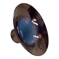 Vintage Rare Cowan Larkspur Copper and Blue Lustre Contoured Vase