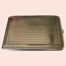 Art Deco Elgin Sterling Silver Cigarette Case