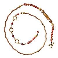 Vintage Carlisle Collection Designer Art Glass Bead Belt
