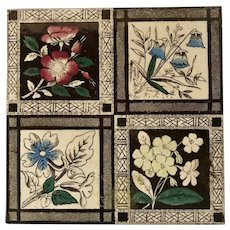 Aesthetic Movement Floral Ceramic Tile