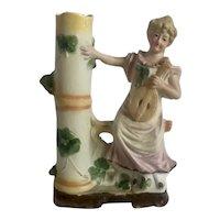 Neoclassical Bisque Porcelain Carl Schneider Spill Vase