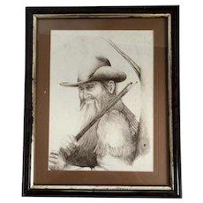 Vintage Signed Schmidt Western Frontiersman