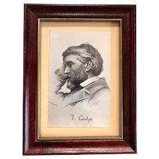 Rare Elliot & Fry Original Photograph of a Thomas Carlyle Engraving