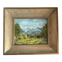 Impressionist Landscape Oil on Board