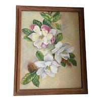 Still Life of Magnolias Oil on Canvas