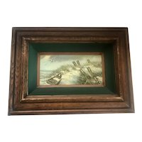 Coastal Seascape Oil on Board Painting signed Repin
