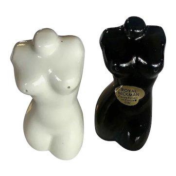 Royal Hickman Florida Female Nude Torso Salt and Pepper Shakers