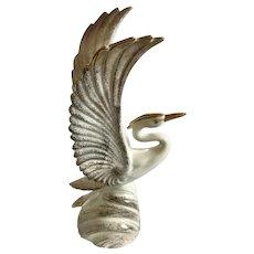Royal Haeger Gold Tweed Large Figural Egret or Heron