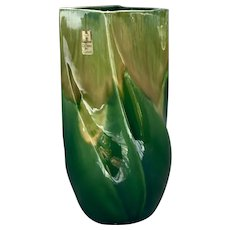 Vintage Haeger Green Agate Vase