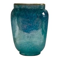 Royal Hickman Paris Ware Blue Petty Glaze Vase