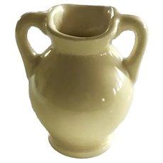 Shawnee Miniature Yellow Handled Vase