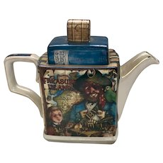 "James Sadler England Porcelain Teapot Classic Stories ""Treasure Island"""