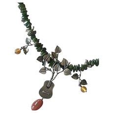 Joyas de la Tierra by Flora Maria Mexico Sterling and Gemstone Necklace