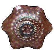 Fenton, Amethyst, Coin Dot, Carnival Glass Bowl