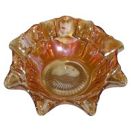 Imperial, Marigold, Oval & Round, Carnival Glass Bowl