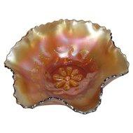 Dugan, Marigold, Cosmos Variant, Carnival Glass Bowl