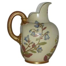 Royal Worcester, 1887, Flat Back, Hand Painted Pitcher