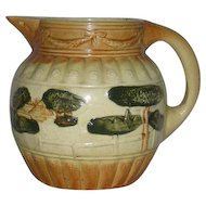 Roseville Art Pottery, Large, Landscape Pitcher