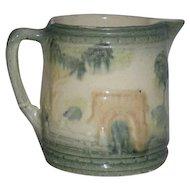 Roseville Art Pottery, Bridge Scene, Milk Pitcher