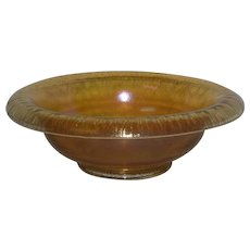 Marigold, Stretch Glass, Rolled Lip, Console Bowl
